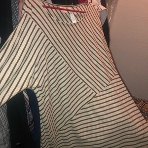 Chico's striped long sleeve tee